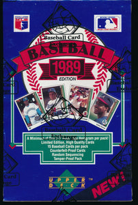 1989 Upper Deck Baseball Group FASC Low Box Break #4