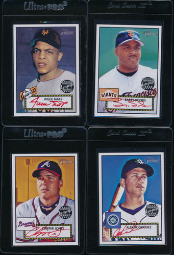 2001 Topps Heritage Red Ink /52 Autograph Set Group Break (50 spots total)