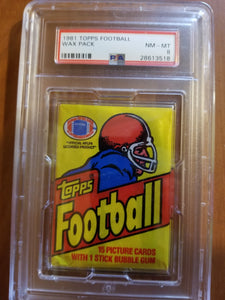 1981 Topps Football Wax Pack (15 Spot Break) 1