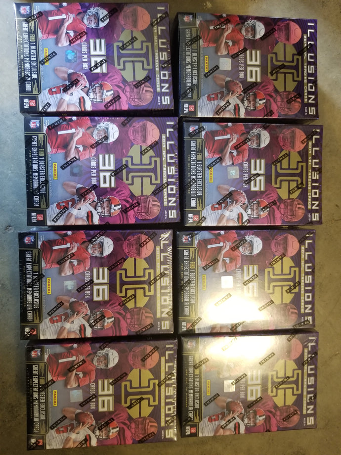2019 Panini Illusions Football Blaster Box Lot x8 Unopened