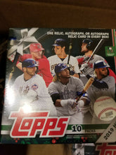 Load image into Gallery viewer, 2019 Topps baseball Holiday Mega Box lot x6 relic/auto per box