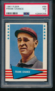 1961 Fleer Baseball Greats  98 Frank Chance HOF PSA 7 NM 14192
