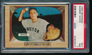 1955 Bowman  47 Sammy White  PSA 7 NM 14201
