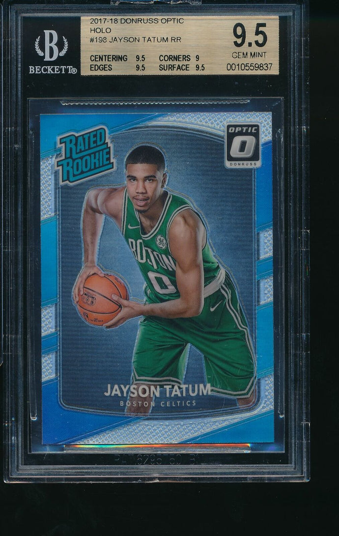 2017-18 Panini Donruss Optic HOLO 198 JAYSON TATUM RC BGS 9.5 GEM MINT 14213