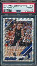 Load image into Gallery viewer, 2019-20 Donruss Optic 16 Luka Doncic Fanatics PSA 10 GEM MINT 14903