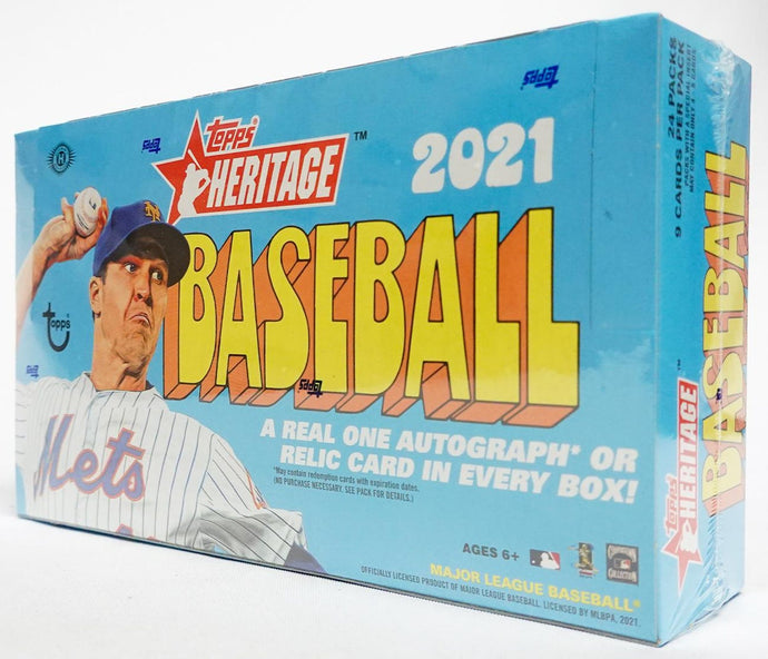 2021 Topps Heritage Hobby Box Break + '72 Topps Set Break Spots (24 spots) Box #7
