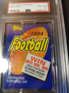 1984 Topps Football Wax Pack Group Break (15 Spots)