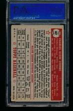 Load image into Gallery viewer, 1952 Topps  62 Chuck Stobbs RC PSA 4 VG-EX 13185