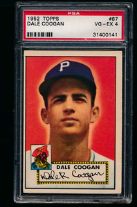 Scan of 1952 Topps 87 Dale Coogan PSA 4 VG-EX