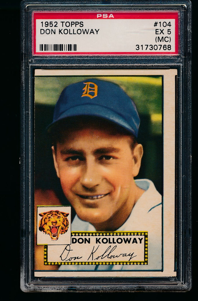 1952 Topps  104 Don Kolloway  PSA 5 EX (MC) 13195