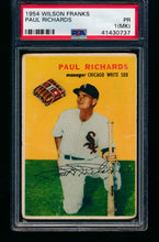 Load image into Gallery viewer, 1954 Wilson Franks   Paul Richards  PSA 1 PR (MK) 13238