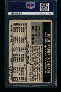 1954 Wilson Franks   Paul Richards  PSA 1 PR (MK) 13238