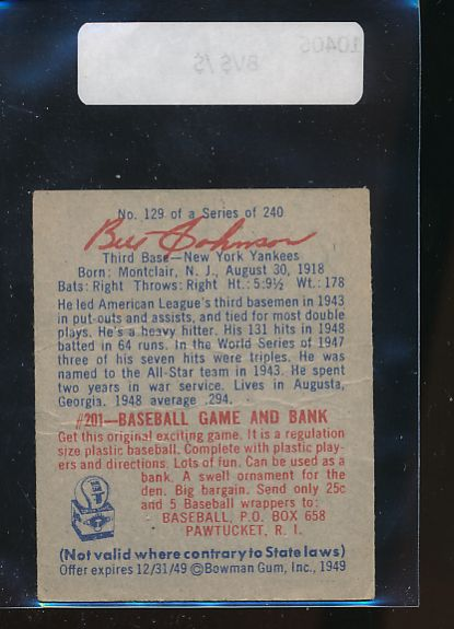 1949 Bowman  129 Bill Johnson  G 10406