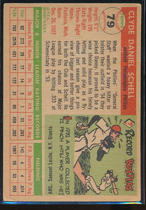 1955 Topps  79 Clyde Danny Schell RC VG 10478