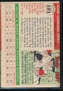 1955 Topps  101 Johnny Gray RC P 10488