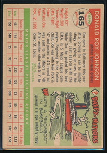1955 Topps  165 Don Johnson  VG-EX 10512