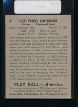 Load image into Gallery viewer, 1939 Play Ball  2 Lee Grissom  G 10524