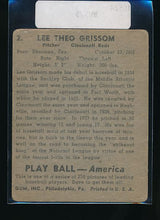 Load image into Gallery viewer, 1939 Play Ball  2 Lee Grissom  Trimmed 10525