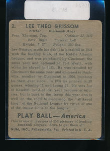 1939 Play Ball  2 Lee Grissom  Trimmed 10525