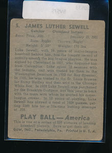 1939 Play Ball  5 Luke Sewell  VG 10533