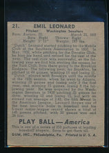 Load image into Gallery viewer, 1939 Play Ball  21 Dutch Leonard  EX 10573
