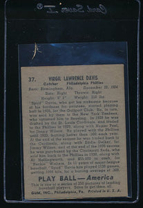 1939 Play Ball  37 Virgil Davis  EX-MT 10621