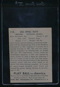 1939 Play Ball  114 Cecil Travis  Trimmed 10667