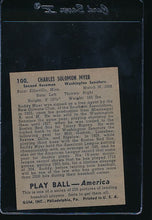 Load image into Gallery viewer, 1939 Play Ball  100 Buddy Myer  Trimmed 10691