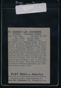 1939 Play Ball  97 Bob Johnson  Trimmed 10700