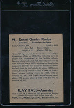 Load image into Gallery viewer, 1939 Play Ball  96 Babe Phelps  VG 10702