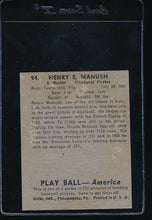 Load image into Gallery viewer, 1939 Play Ball  94 Heinie Manush  G (MK) 10706