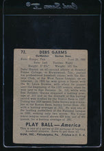 Load image into Gallery viewer, 1939 Play Ball  72 Debs Garms  G/VG 10752