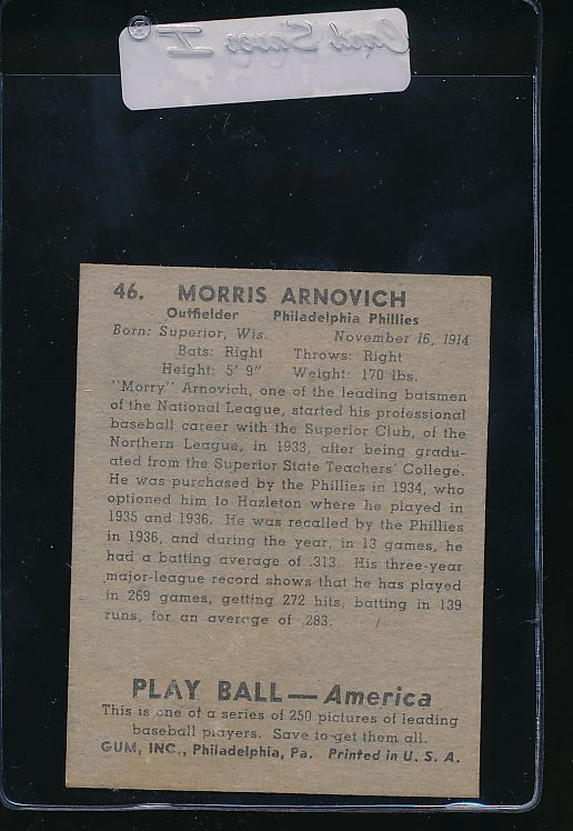 1939 Play Ball  46 Morris Arnovich  VG (MK) 10800