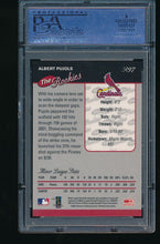 Load image into Gallery viewer, 2001 Donruss Rookie Baseball's Best Silver R97 Albert Pujols RC PSA 9 MINT 10837