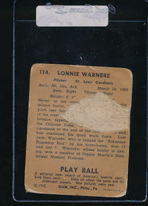 1940 Play Ball  114 Lon Warneke   P 10987