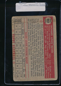 1952 Topps  363 Dick Rozek RC High # F 11059