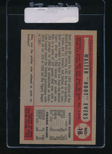 1954 Bowman  18  Hoot Evers  VG-EX 11069