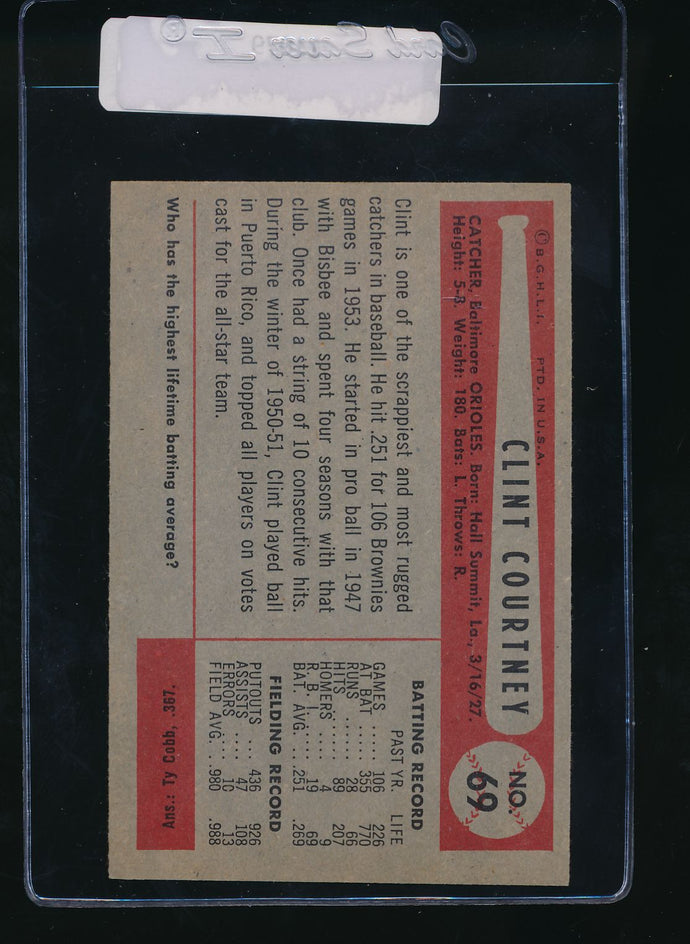 1954 Bowman  69  Clint Courtney  EX 11079