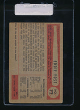 Load image into Gallery viewer, 1954 Bowman  72  Eddie Yost  VG 11080