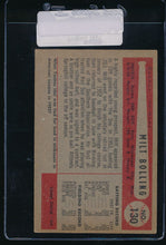 Load image into Gallery viewer, 1954 Bowman  130  Milt Bolling  VG 11093