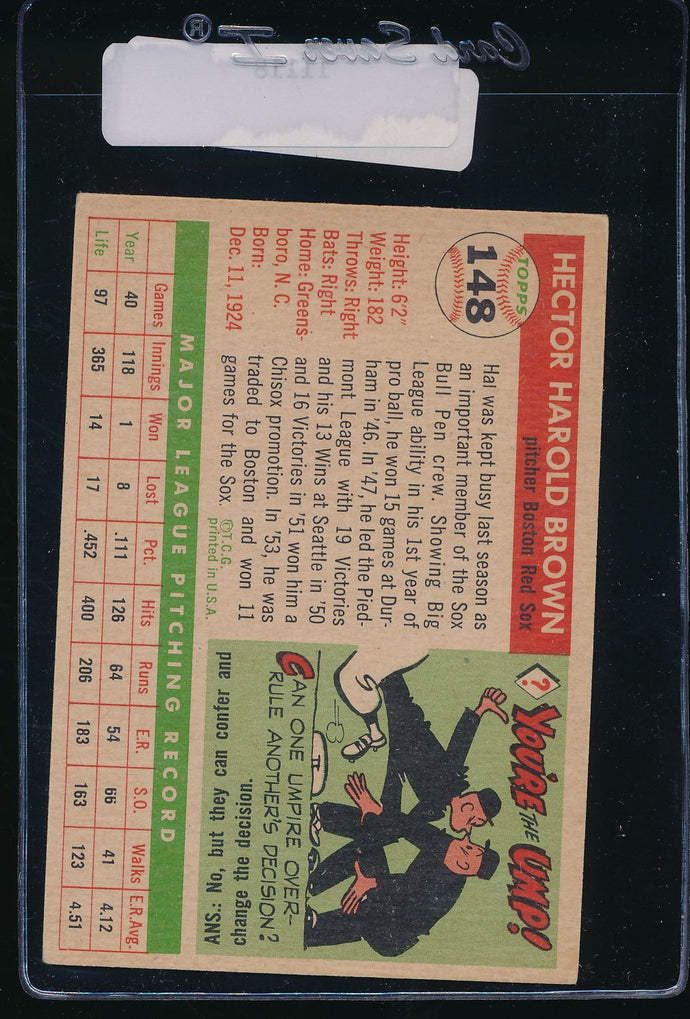 1955 Topps  148 Hal Brown  EX 11118