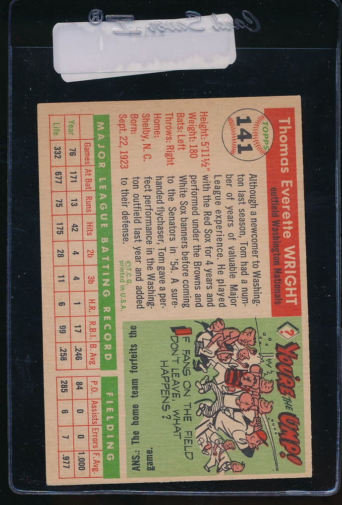 1955 Topps  141 Tom Wright  EX 11121