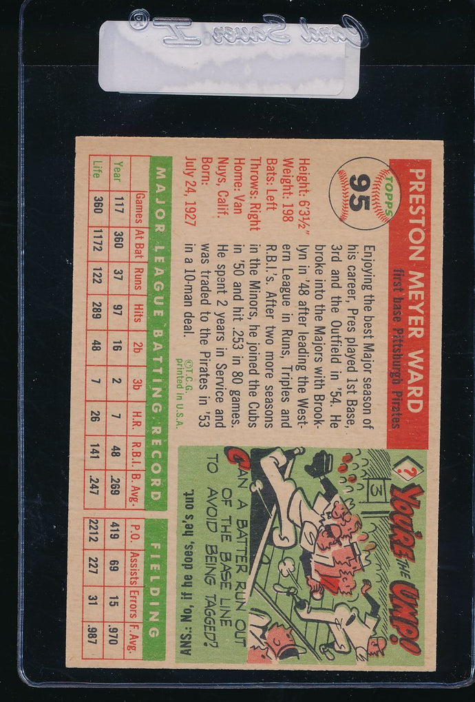 1955 Topps  95 Preston Ward  EX-MT 11136