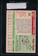 Load image into Gallery viewer, 1955 Topps  61 Forrest Jacobs  VG-EX 11140