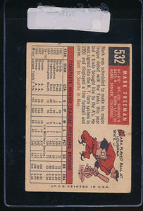 1959 Topps  532 Mark Freeman RC VG-EX 11170
