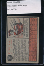 Load image into Gallery viewer, 1962 Topps  300  Willie Mays HOF VG 11213