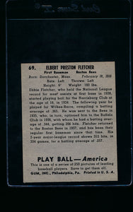 1939 Play Ball  69 Elbie Fletcher  Trimmed 11461