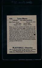Load image into Gallery viewer, 1939 Play Ball  133 Lynn Myers  Trimmed 11464
