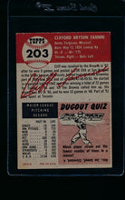 Load image into Gallery viewer, 1953 Topps  203 Cliff Fannin  VG 11491