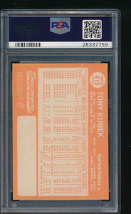 1964 Topps  415  Tony Kubek  PSA 8 NM-MT 11705